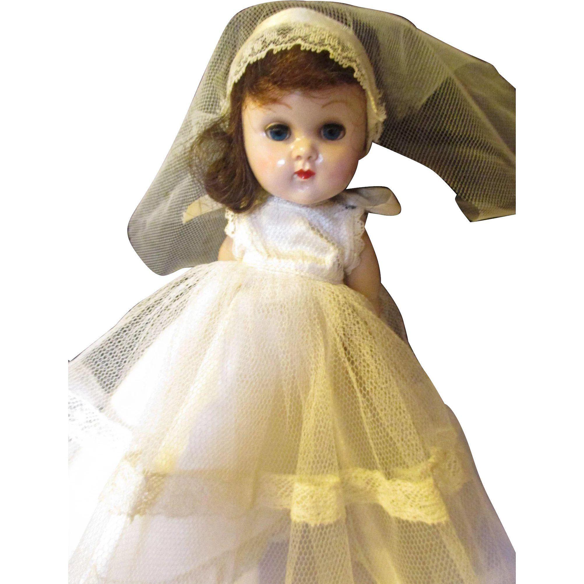 Vintage Vogue/Ginny Bride doll SLW #bridedolls Vintage Vogue/Ginny Bride doll SLW -- found at www.rubylane.com #thedollworldshome #vintagebeginshere #bride #doll #giftsforher #valentinesday #bridedolls