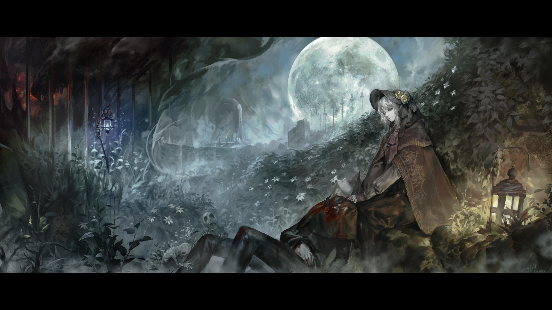 Video Game Bloodborne Hunter Moon Plain Doll Wallpaper Bloodborne Art Bloodborne Dark Souls