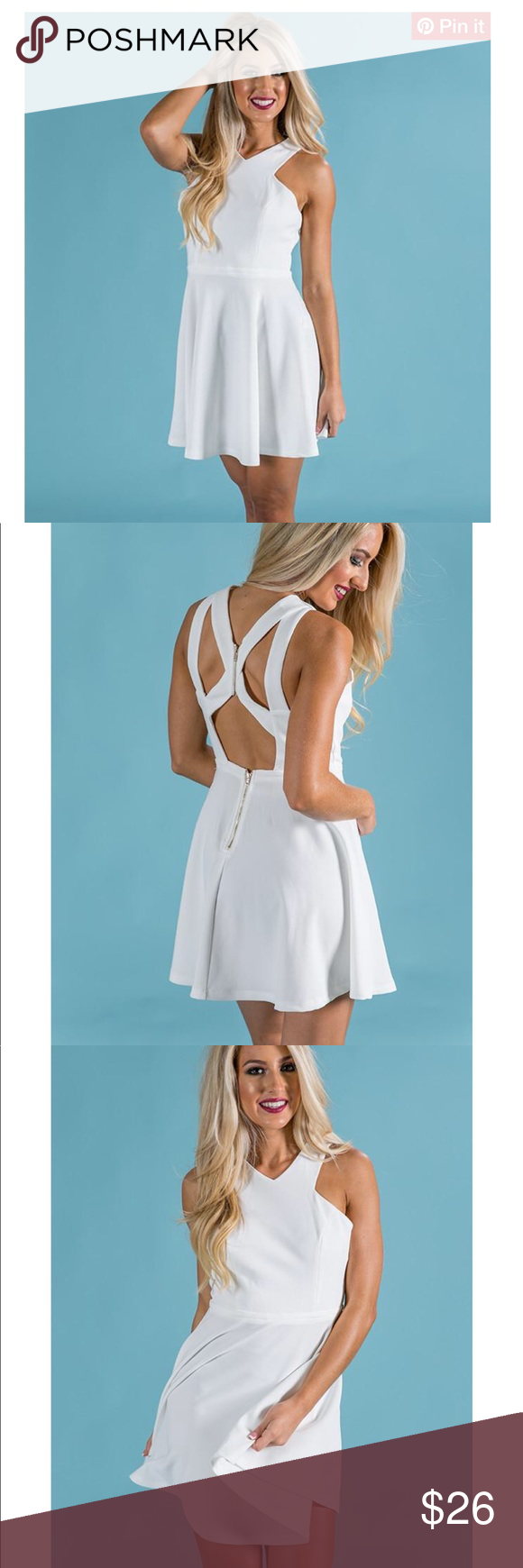 White Cut Out Dress NWT Brand New, Bought to wear for Bachelorette ...