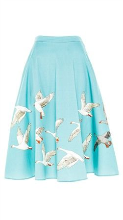 The Jane Geese In Flight Skirt