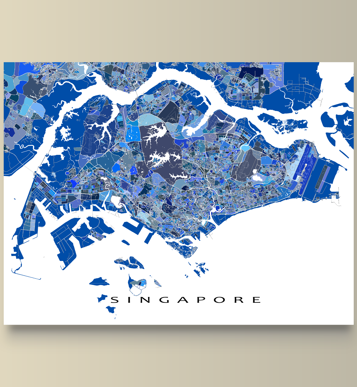 Singapore map singapore print asia city map travel art asia map had a great trip to singapore planning a vacation or just lucky enough to live there then this singapore map print is for you this city street map has gumiabroncs Images