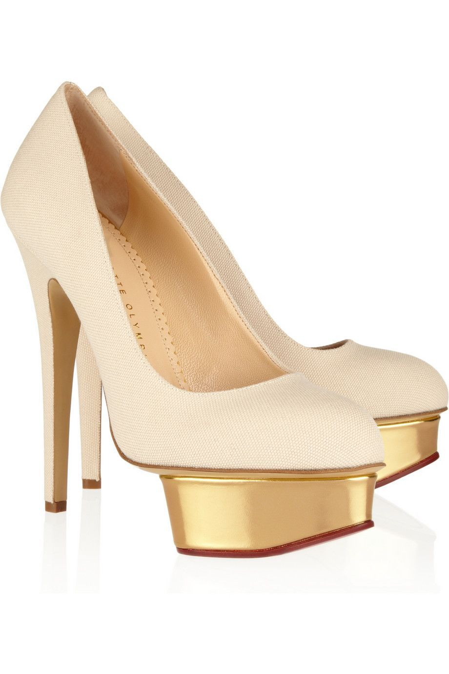 perfect cheap low shipping fee Charlotte Olympia Platform Canvas Pumps Manchester for sale zubYS