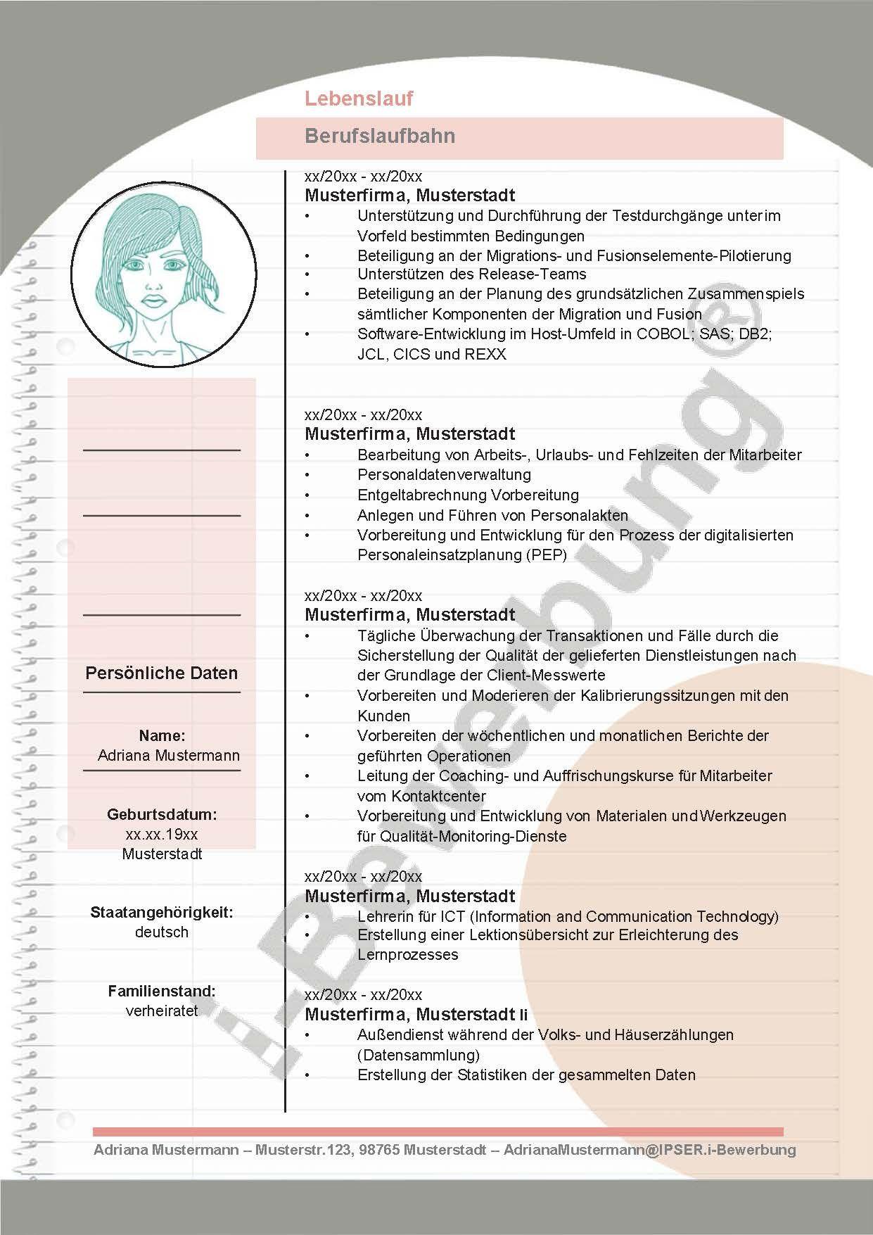 Der Lebenslauf Zur Initiativbewerbung Gestaltung Und Format Lebenslauf Lebenslauf Vorlagen Word Moderner Lebenslauf