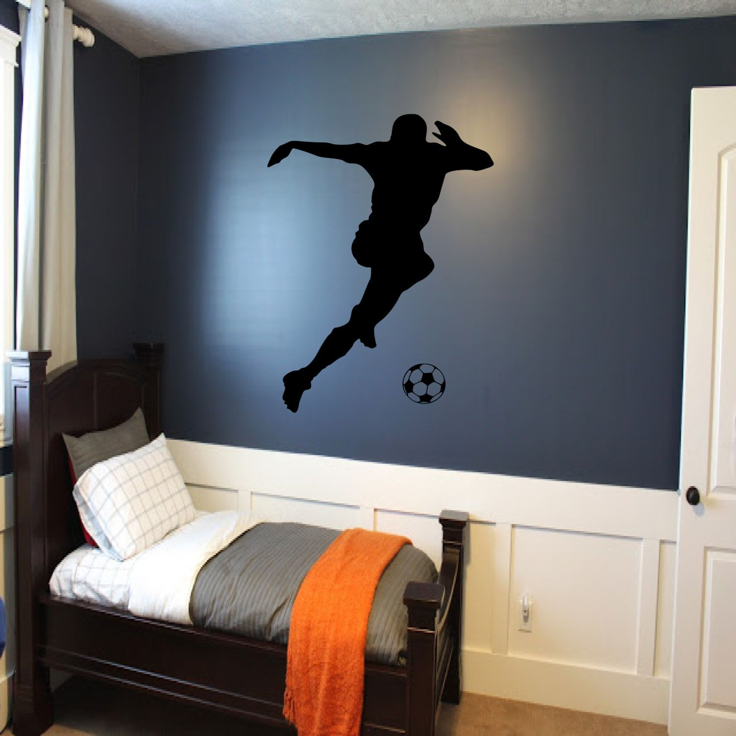 Soccer Player Wall Decal Decor Sports By Sportsvinyl