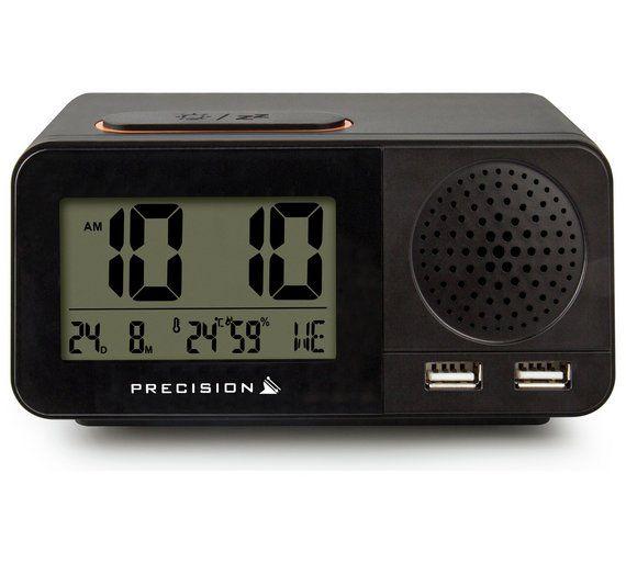 Buy Precision Radio Controlled Usb Dual Alarm Clock Clocks