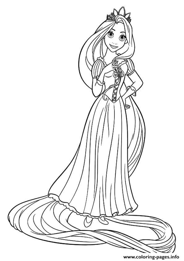 print rapunzel princess coloring pages - Tangled Coloring Pages Girls