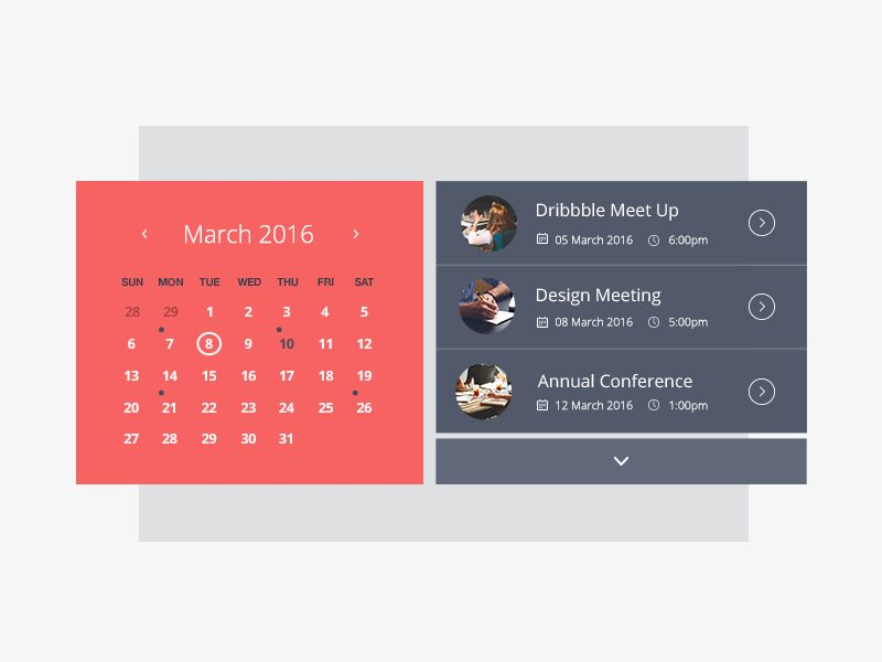 Event Calendar  Event Calendar Calendar Widget And Material Design