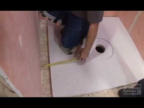 This Video Demontrates How To Extend The Schluter® KERDI SHOWER ST Shower  Tray With Dry Pack Mortar.