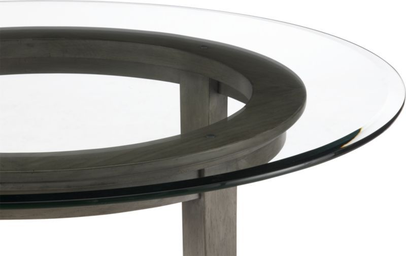 Halo Grey Round Dining Table With 48 Glass Top Grey Dining