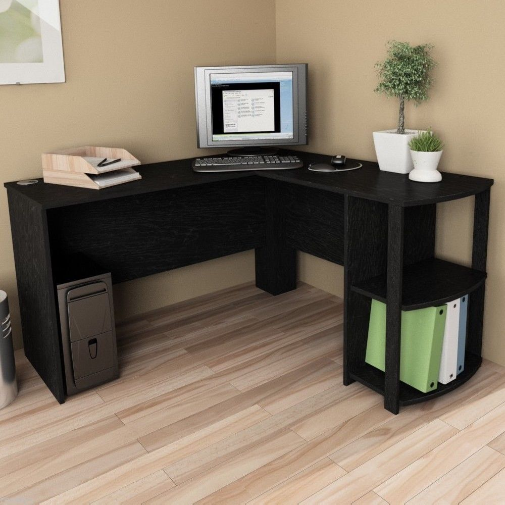 L shaped corner desk computer workstation home office executive work table generic