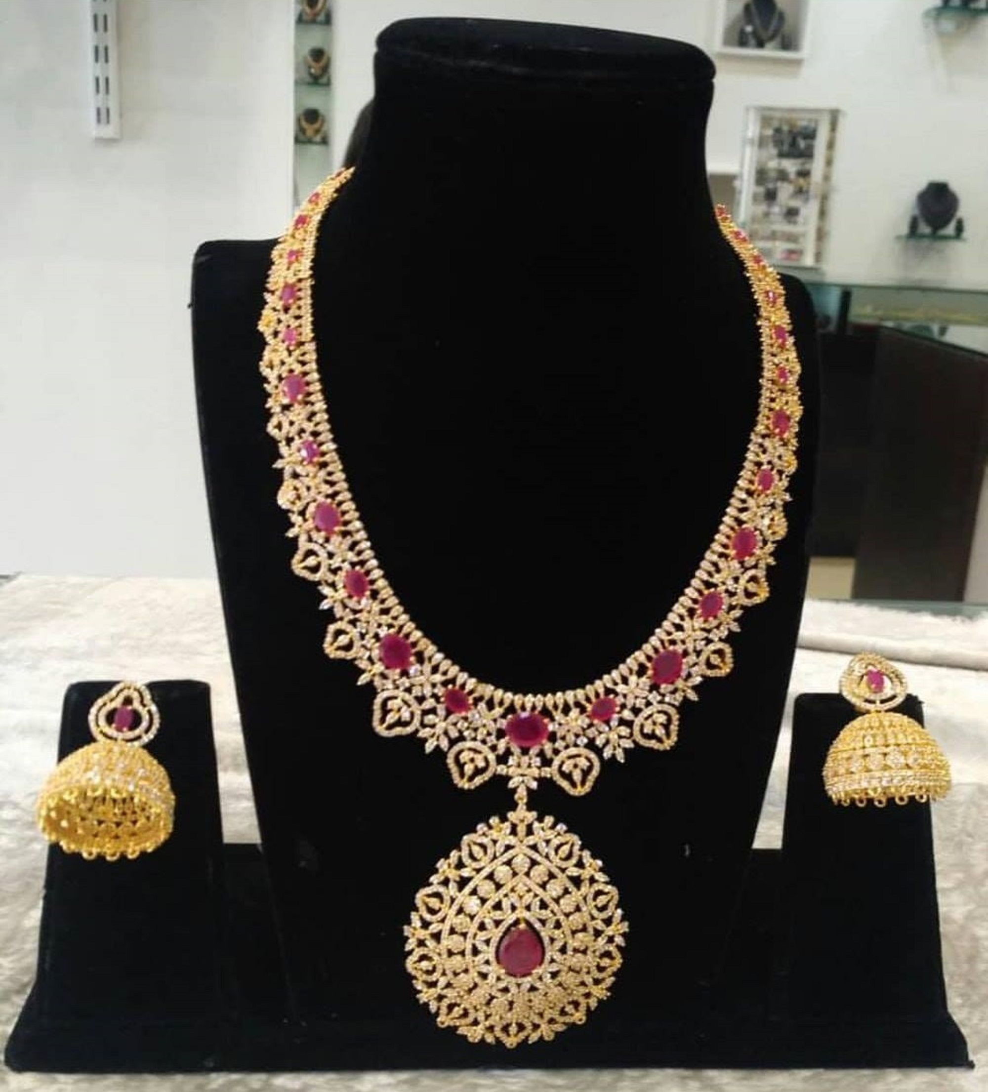 Necklace-Necklaces for Women-Jewellery Sets-Jewelry-Jewelry Set-Jewellery-Indian  Earrings-Jhumkas-Necklace and Earring-Indian Necklace Set | Women's jewelry  sets, Women jewelry, Indian earrings