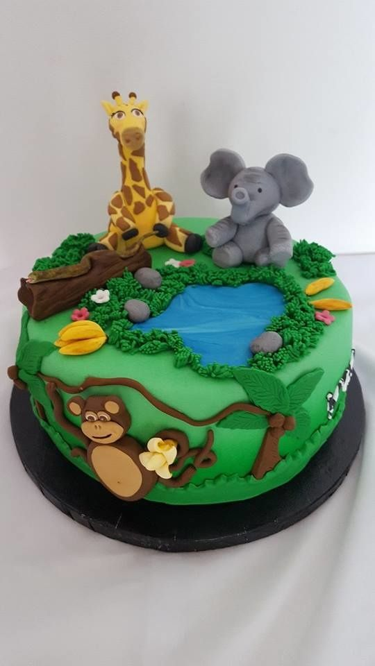 Gateau anniversaire animaux savane