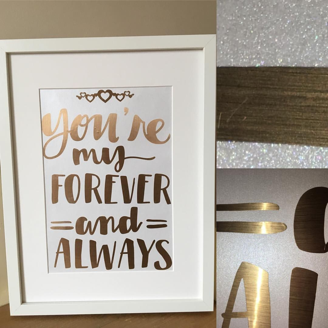You\'re my Always and Forever in metallic gold and a stunning ...