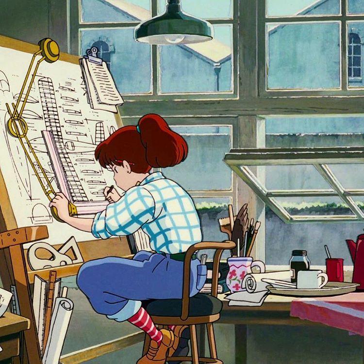 """Studio Ghibli Italia on Instagram: """"Buongiorno e al lavoro, al lavoro! :) #porcorosso #fio #studioghibli #hayaomiyazaki"""""""