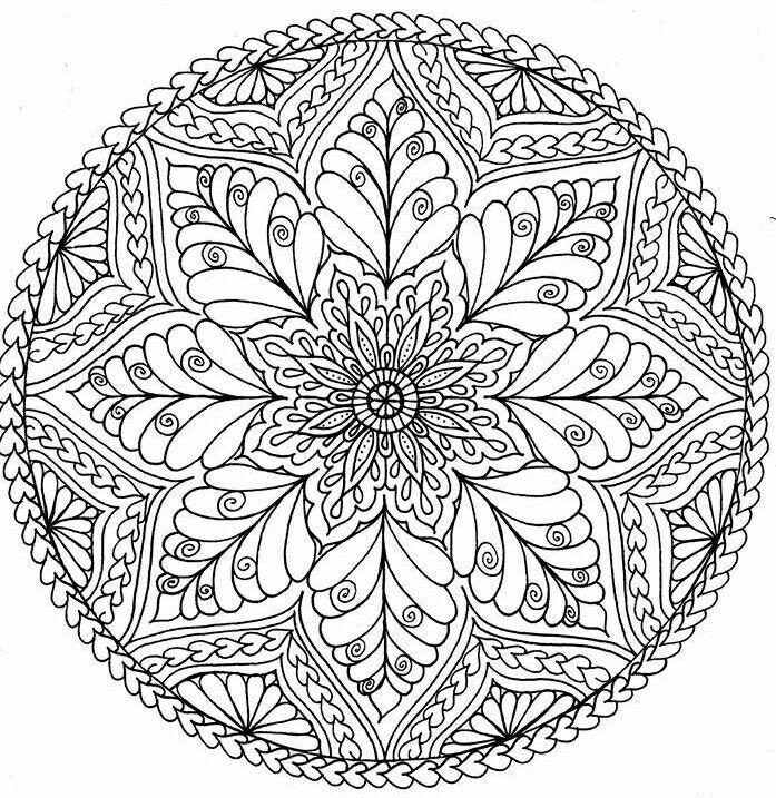 Si Colora Colora Mandala Ausmalen Mandala Malvorlagen Bunte Zeichnungen