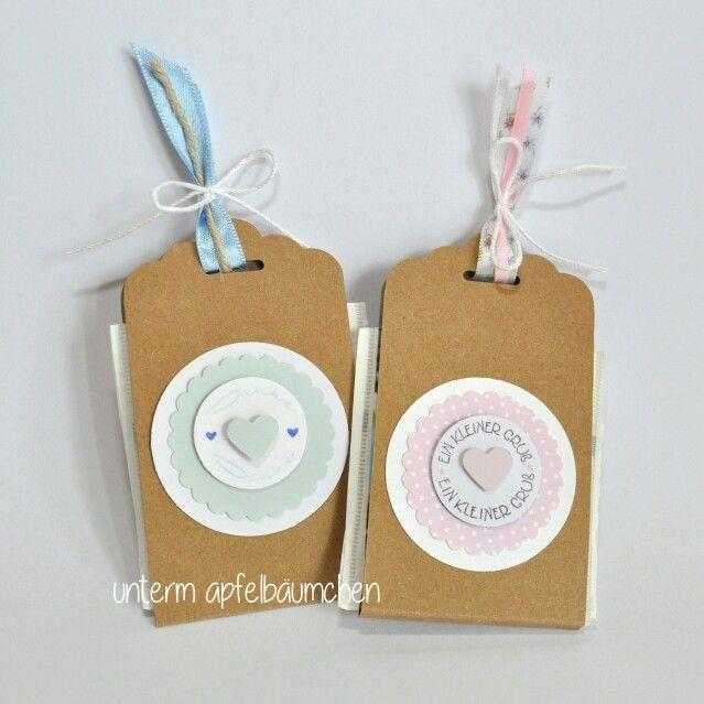 Teebeutelverpackung als kleines Giveaway. Anleitung unter www.untermapfelbäumchen.de zu finden.