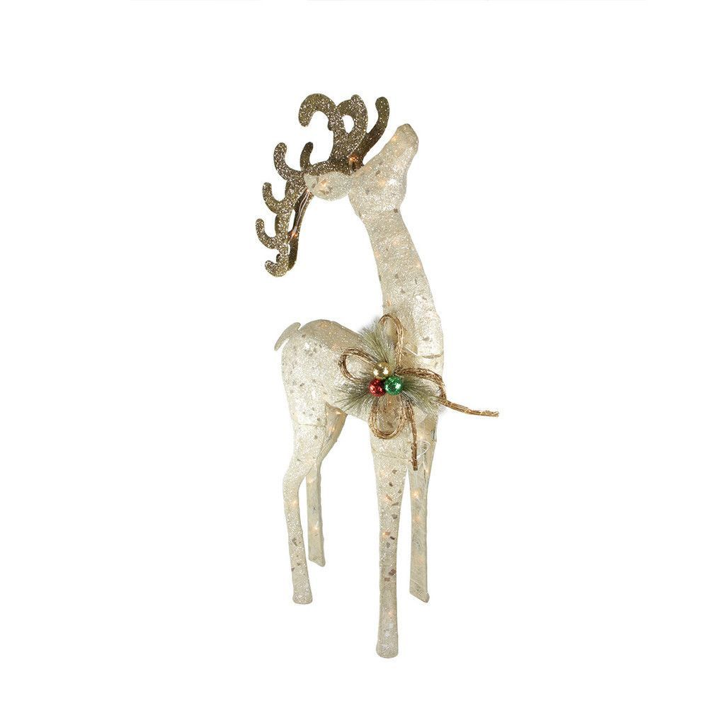 Sparkling sisal reindeer christmas decoration products for Sisal decoration
