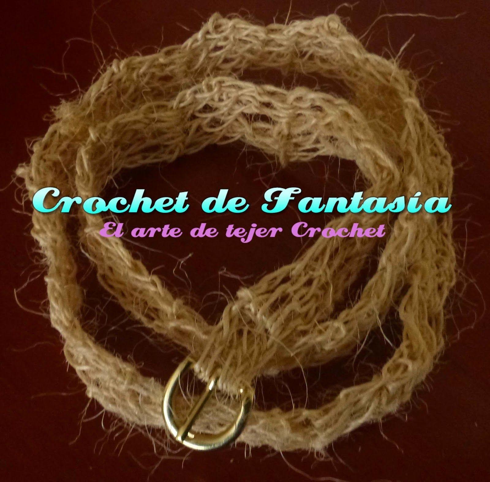 Crochet de Fantasía: Cinturón en Fique tejido en Crochet