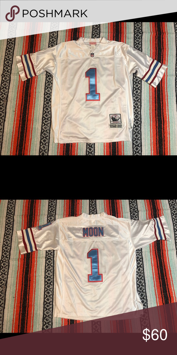 best website 1d93c 6aaf9 Houston Oilers Moon Jersey Condition- 10/10 Size- L 100 ...