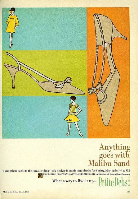 Malibu Sand ad From Mademoiselle, March 1966