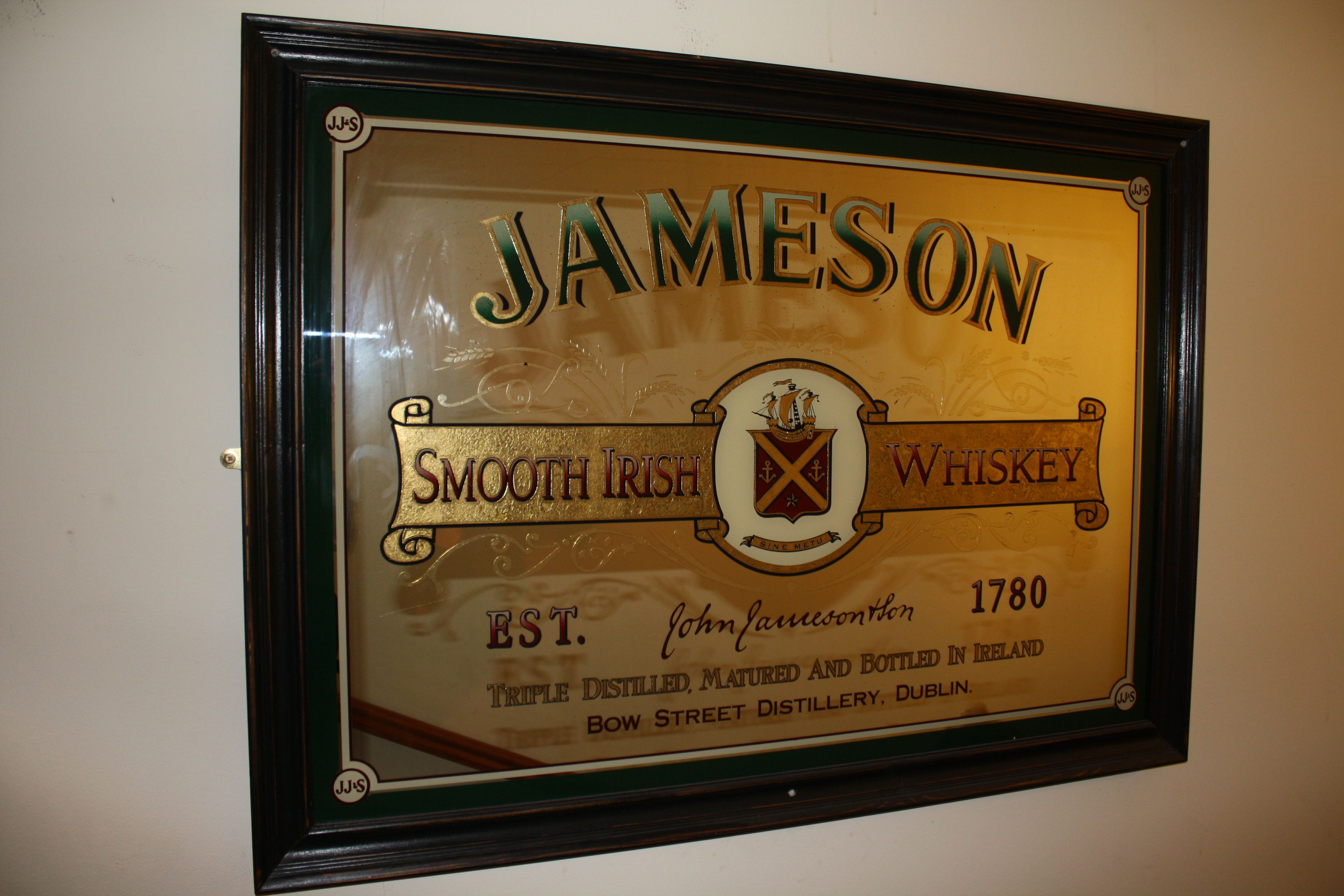 Jameson Classic Irish Whiskey Pub Mirror Irish Pub And