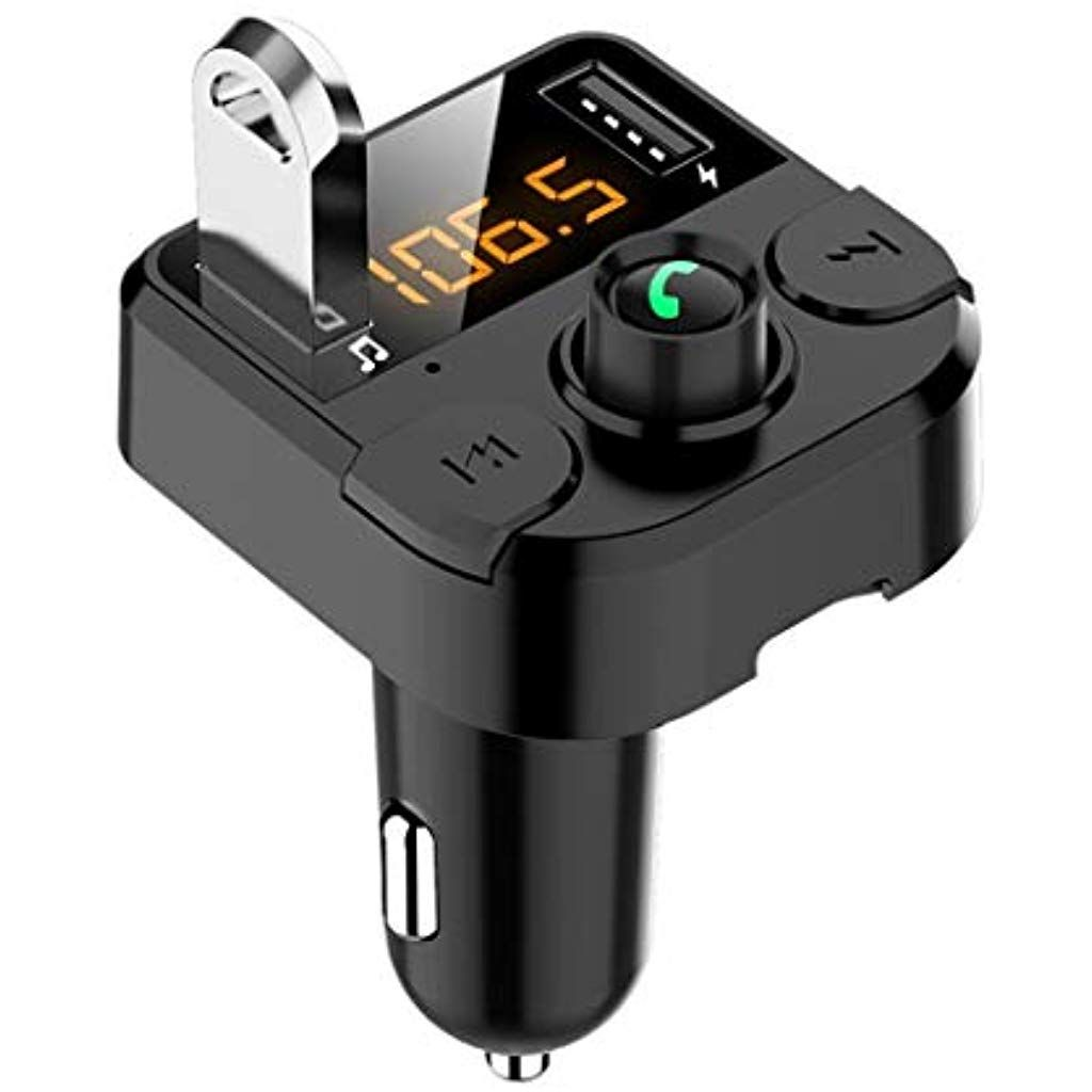 mymotto Trasmettitore FM per Lettore MP3 Vivavoce per Caricabatterie USB per Auto 3.1A Senza Fili Bluetooth Custodie con Batteria Integrata