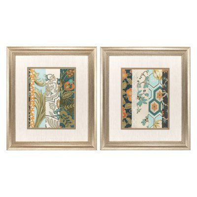 Propac Images Textile Strata Framed Painting Print - Set of 2 - 3840