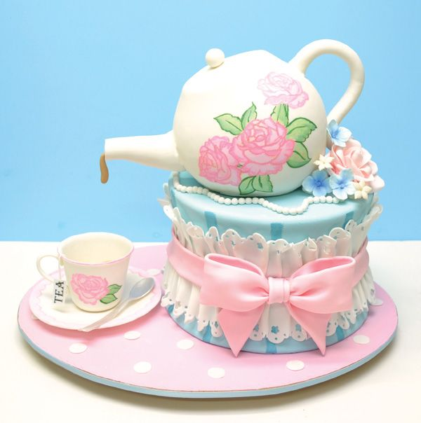 Adorable Pink Girly Tea Party Birthday Tea Cup Party