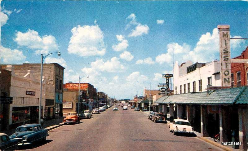 1969 S Dalhart Texas Main Street Baxtone Post Card Favorite Places Utah Snow Main Street