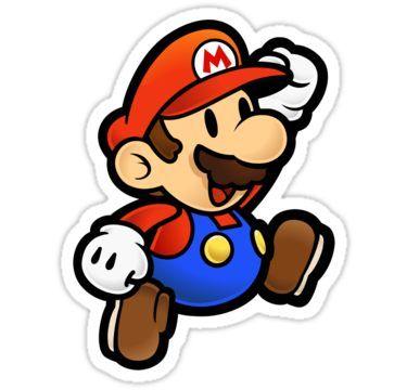 Super Paper Mario Jumping Sticker Super Mario Memes Mario Memes Super Mario Tattoo