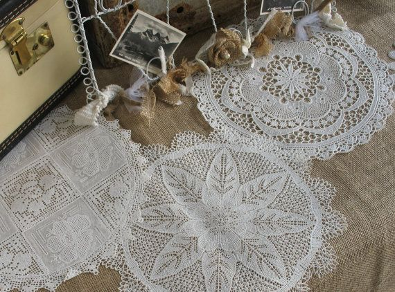SALEVinyl Lace Doily For Rustic Country by TheShabbyChicWedding