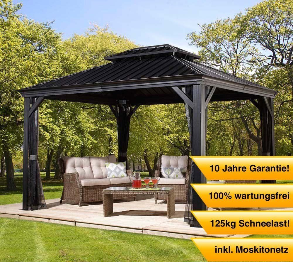 Messinhardtop Gazebo 10x12 Hard Top Sun Shelter Pergola Gazebo Hardtop Gazebo