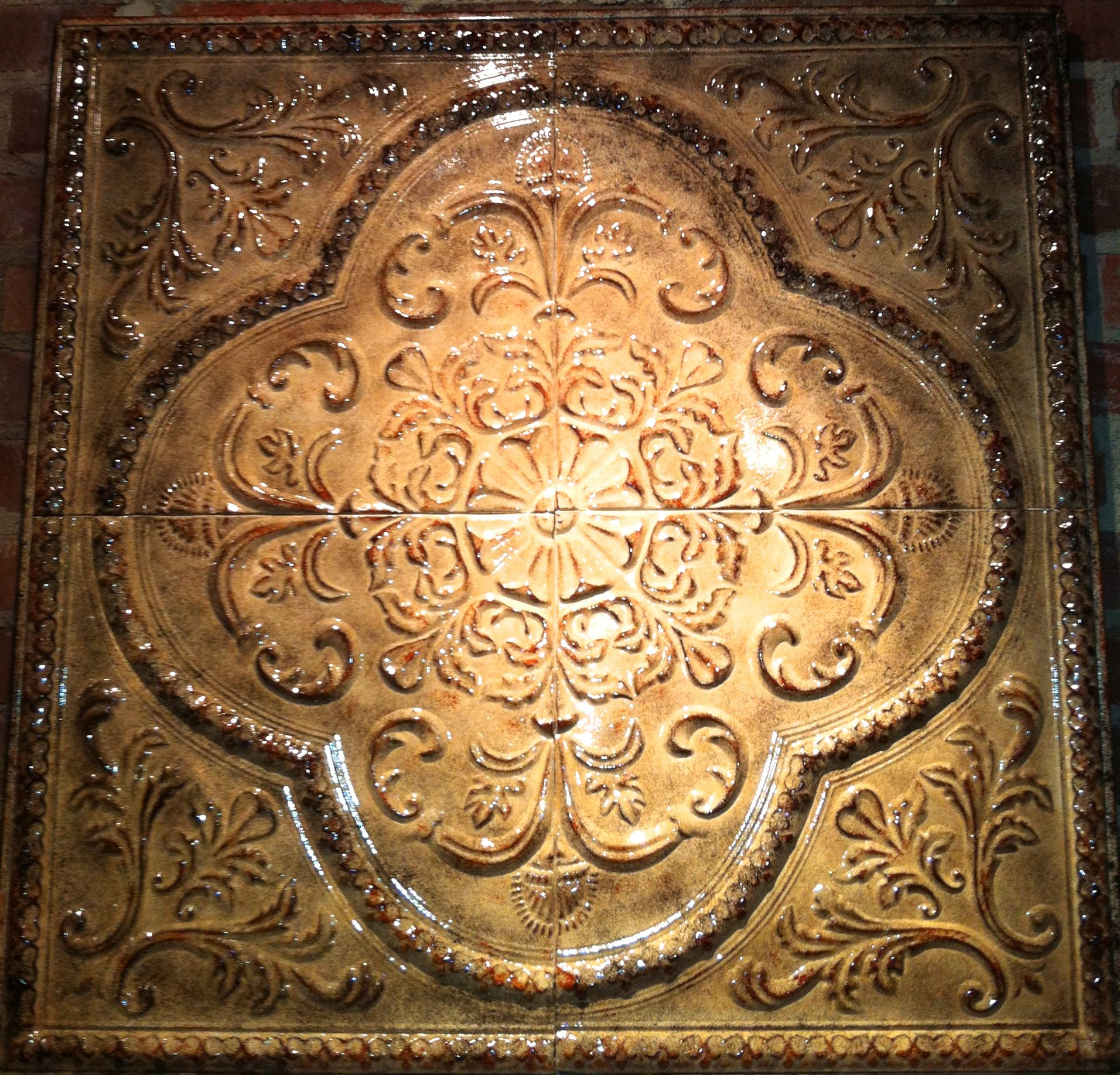 Decorating with Tin Ceiling Tiles | Antique Tin Ceiling Tiles ...