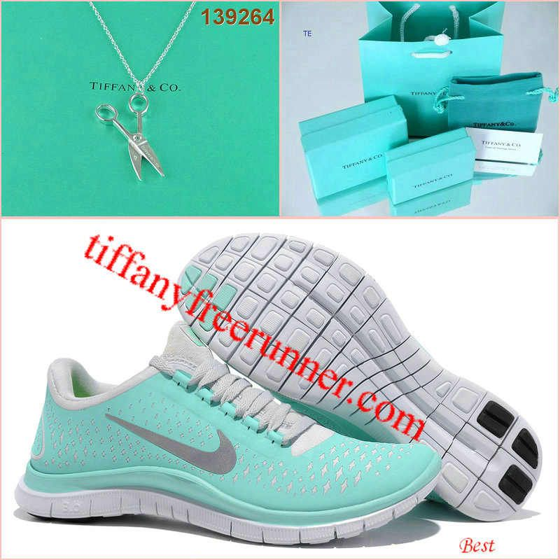 Nike Free 3.0 V4 Tiffany Blue Silver Scissors Tiffany & CO Necklace so  cute,very
