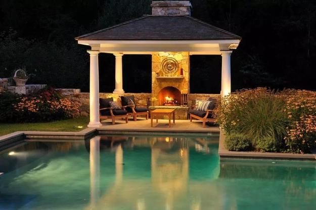 Outdoor Living Spaces with Fireplaces, Modern Ideas, Backyard Design Tips