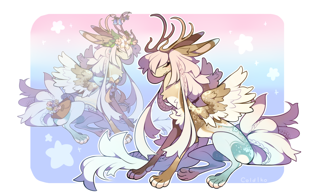 this is a design i did a week ago, it was only a sketch but i polished it up hehe iguhiahiof omgmgmgj,, AB BY oakbears Auction Info: Seafoam Aurora: A coukyo with horns (rare trait). Gen...