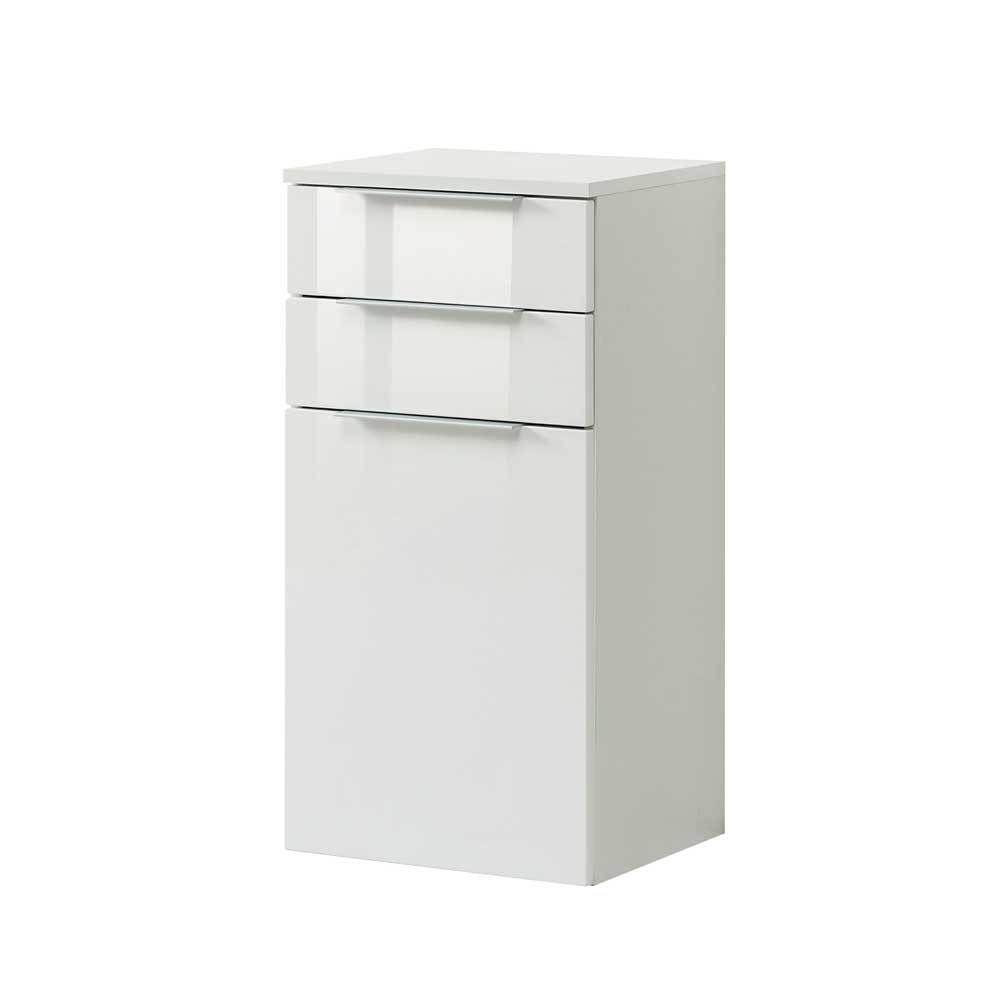 Badezimmer Unterschrank in Hochglanz Weiß 2 Schubladen Jetzt ...