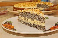 Illes super schneller Mohnkuchen ohne Boden mit Paradiescreme und Haselnusskrokant (Rezept mit Bild)   Chefkoch.de