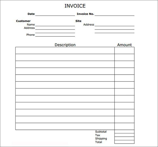 Image result for work invoice template print Pinterest - invoice form