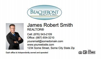 Beachfront Realty Business Cards Bri Bc 048 With Photo