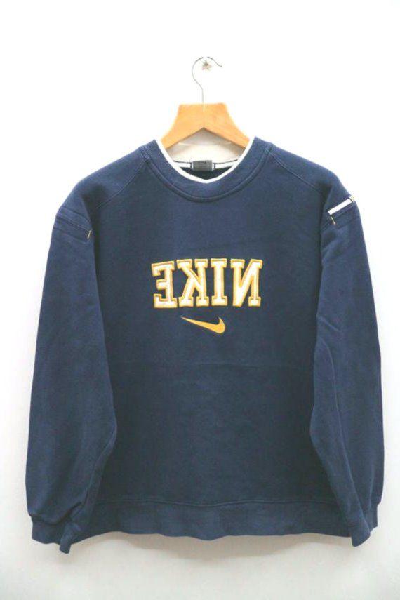 Vintage ADIDAS ORIGINALS Big Logo Hoodie Sweatshirt Navy Blue Large L