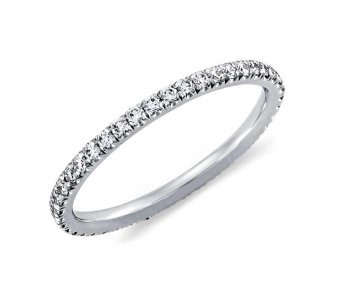 diamond pave eternity ring in platinum (3/8 ct. tw.)   diamond