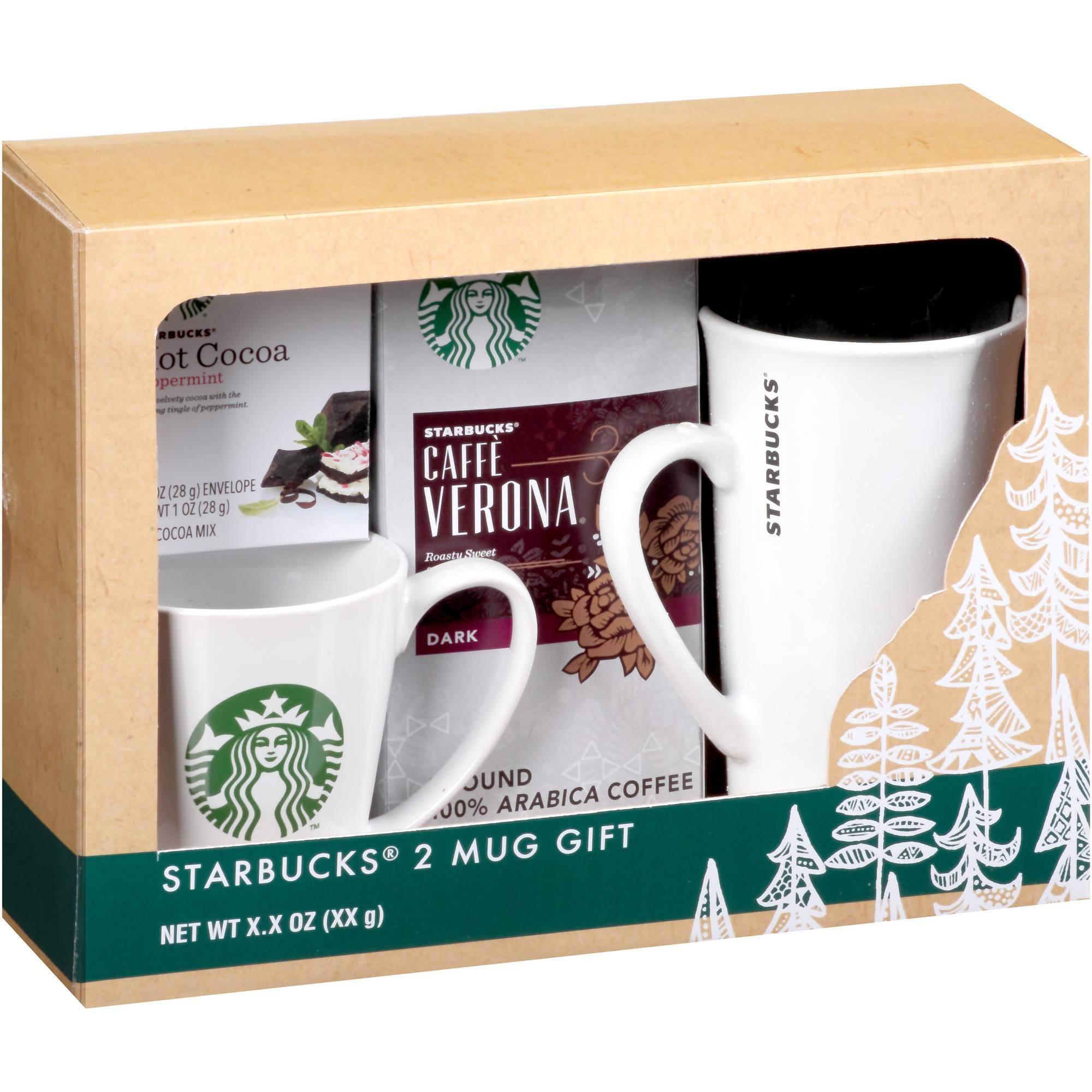 Starbucks 2 Mug Holiday Gift Set 4 Pc Walmart Com Gift
