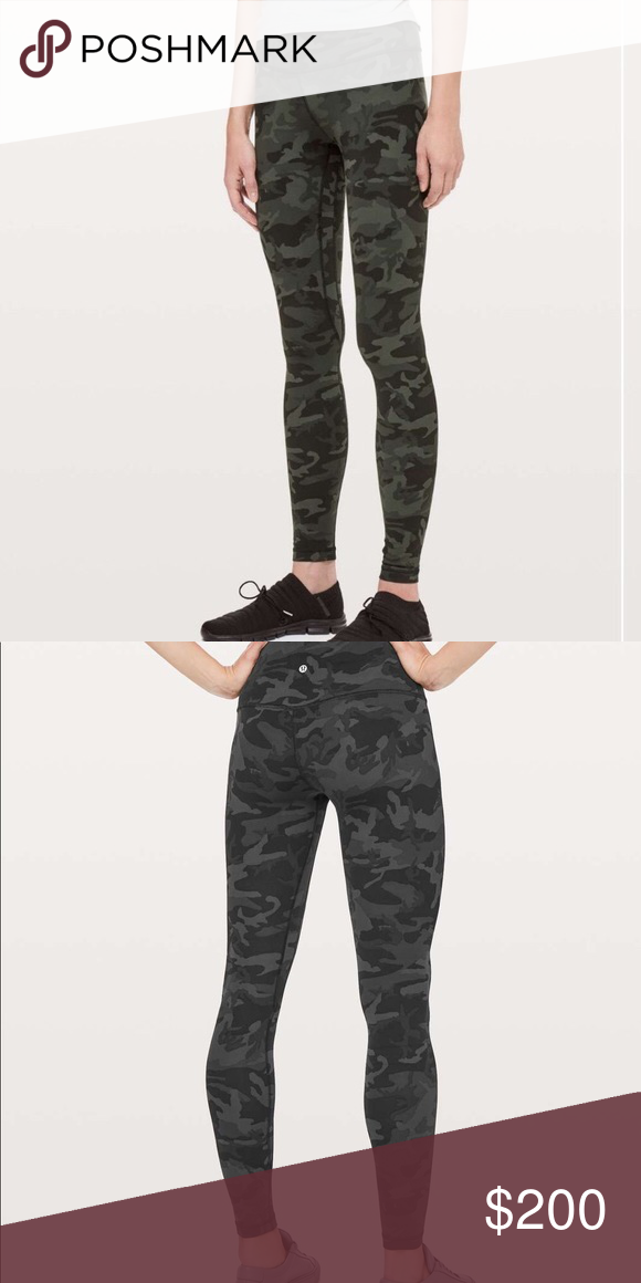 c66940c095fcc LULULEMON CAMO ALIGN -lululemon's incognito align green camouflage legging  -completely sold out -limited edition -incredibly soft -squat proof WILL  TRADE ...