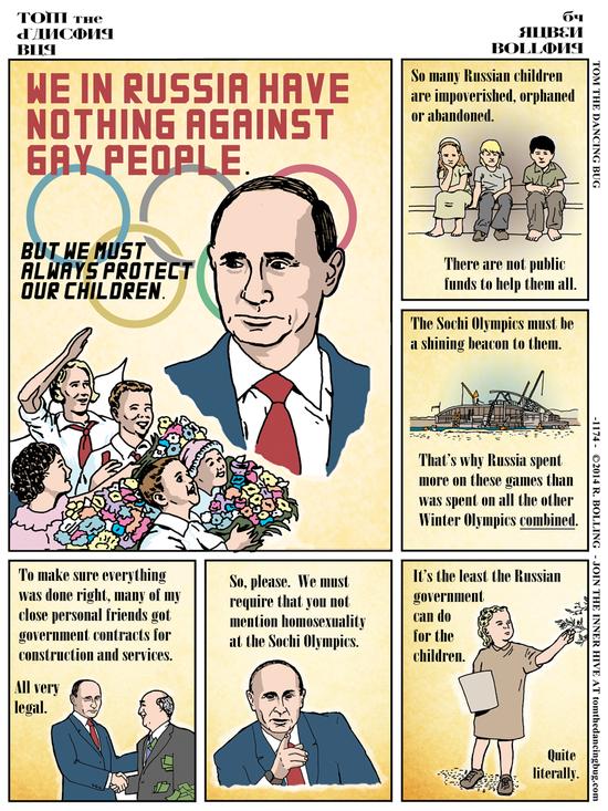 Cartoon: How Vladimir Putin protects Russia's children byRubenBolling