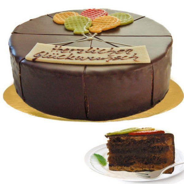Dessertkuchen2 Lecker BallonsDesign auf Kuchen