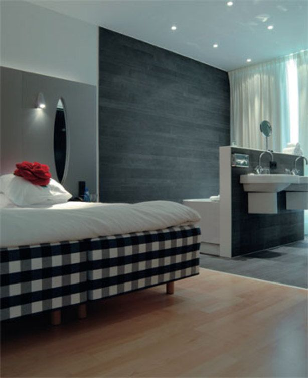 14 voorbeelden van een badkamer in de slaapkamer inrichting