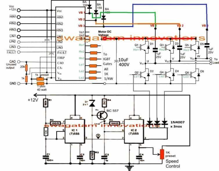 How To Make A 3 Phase Vfd Circuit Homemade Circuit Projects In 2020 Circuit Projects Circuit Electronics Basics