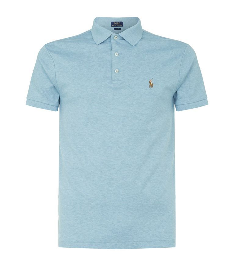 Custom Slim Fit Cotton Pique Polo Shirt In Blue Polo Shirt Outfit Men Polo Shirt Outfits Mens Polo T Shirts
