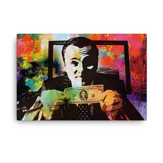 Leonardo Dicaprio Wolf Of Wall Street Canvas Art Money Papeis De Parede Parede Celular Decoracao